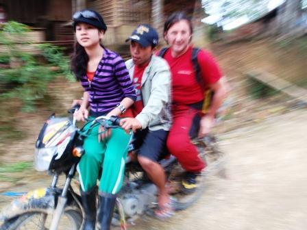 Mototaxi verso Calbiga