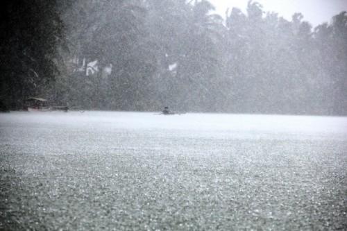 pioggia sul Gandara River